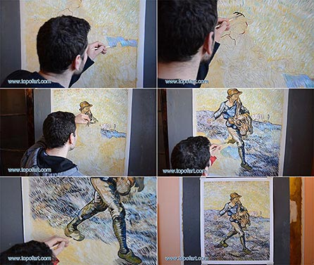 The Sower by van Gogh - Painting Reproduction