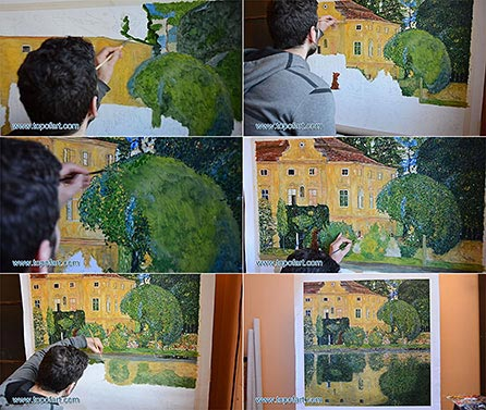 Kammer Castle on the Attersee IV - Painting Reproduction
