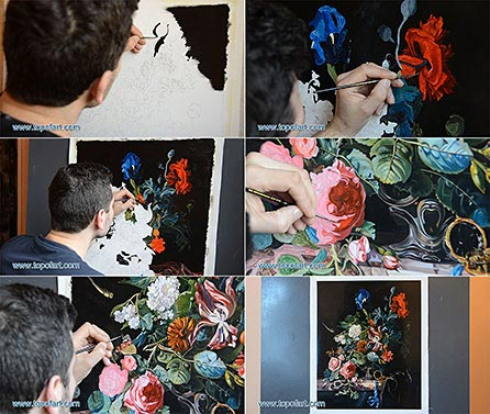 Flowers in a Silver Vase by Willem van Aelst - Painting Reproduction