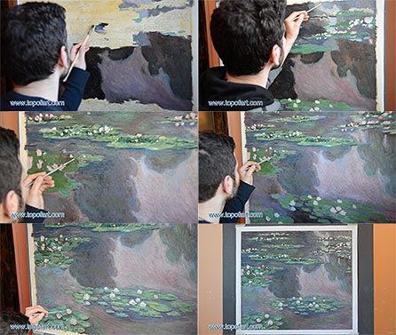 Water Lilies I by Monet - Oil Painting Reproduction