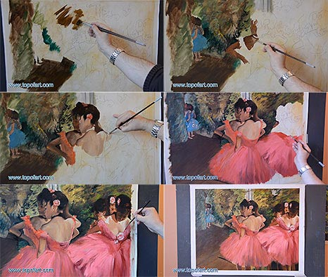 Dancers in Pink by Degas - Oil Painting Reproduction