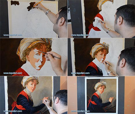 Self Portrait by Vigee le Brun - Painting Reproduction