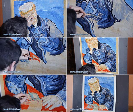 Portrait of Doctor Gachet by van Gogh - Painting Reproduction