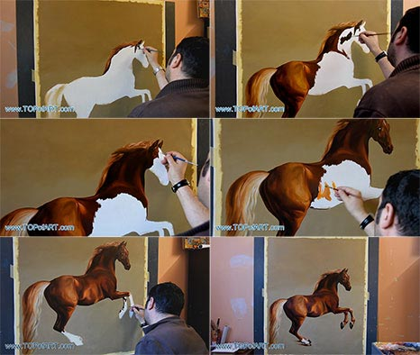 Whistlejacket by Stubbs - Painting Reproduction