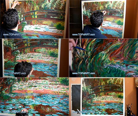 Japanese Bridge at Giverny by Monet - Painting Reproduction