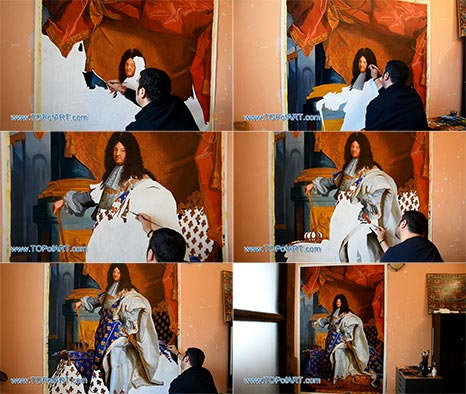 Portrait of Louis XIV by Hyacinthe Rigaud - Painting Reproduction