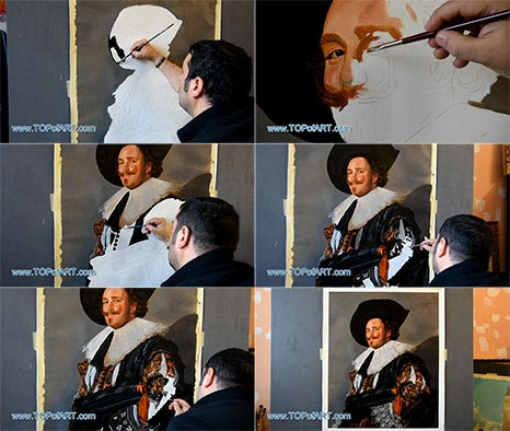 The Laughing Cavalier by Frans Hals - Painting Reproduction