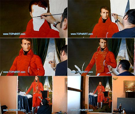 Napoleon as First Consul by Ingres - Painting Reproduction