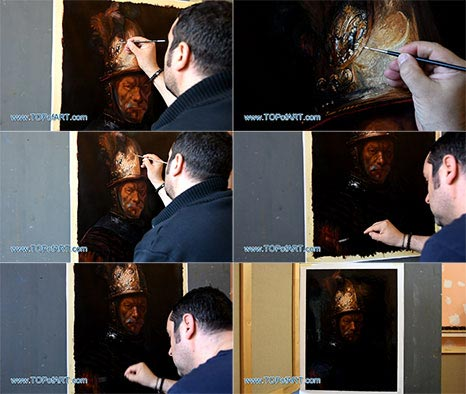 The Man with the Golden Helmet by Rembrandt - Painting Reproduction
