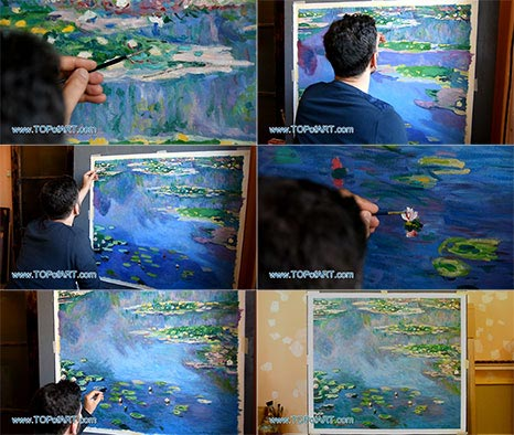 Water Lilies Nympheas by Monet - Painting Reproduction