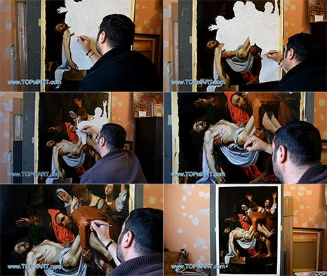 Deposition from the Cross by Caravaggio - Painting Reproduction