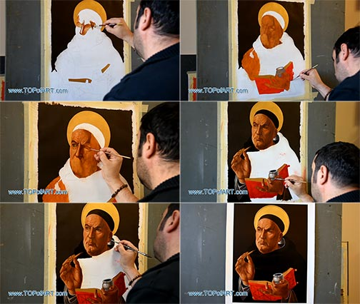 St. Thomas Aquinas by Botticelli - Painting Reproduction