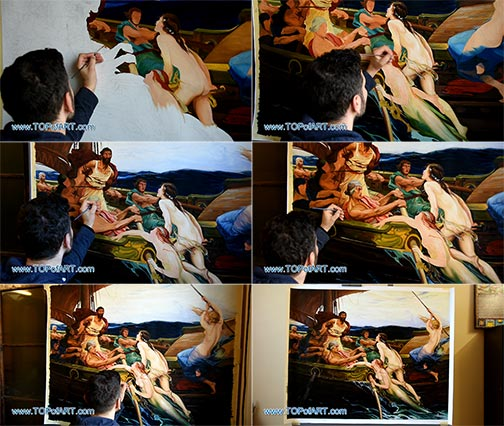 Ulysses and the Sirens by Draper - Painting Reproduction