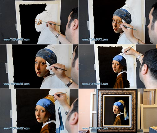 The Girl with a Pearl Earring by Vermeer - Painting Reproduction