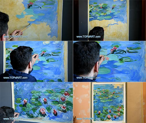 Water Lilies by Claude Monet - Painting Reproduction