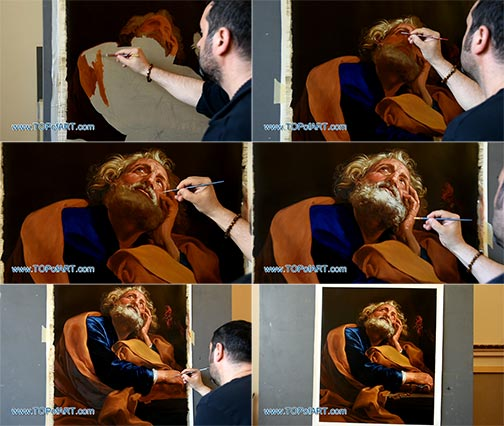 Saint Peter by Pompeo Girolamo Batoni - Painting Reproduction