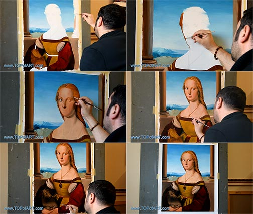 Lady with a Unicorn by Raphael - Painting Reproduction