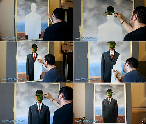 The Son of Man by Magritte - Painting Reproduction
