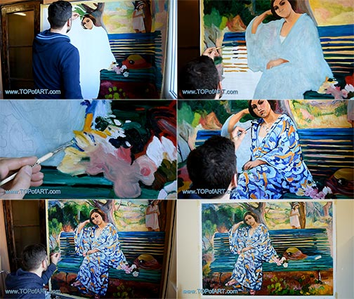 On the Green Bank, Sanary by Henri Lebasque - Painting Reproduction