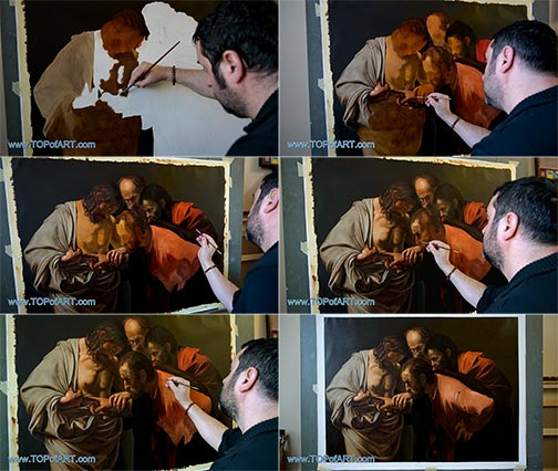 The Incredulity of Saint Thomas by Caravaggio - Painting Reproduction